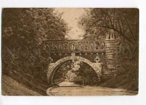 258228 Russia Moscow Tsaritsino Bridge Vintage Goznak postcard
