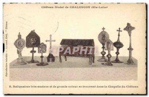 Postcard Ancient feudal Castle of Chalencon (Haute Loire) Reliquary very old ...