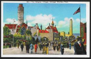 Chicago Worlds Fair 1933-1934 The Belgian Village Chicago Illinois Unused c1933