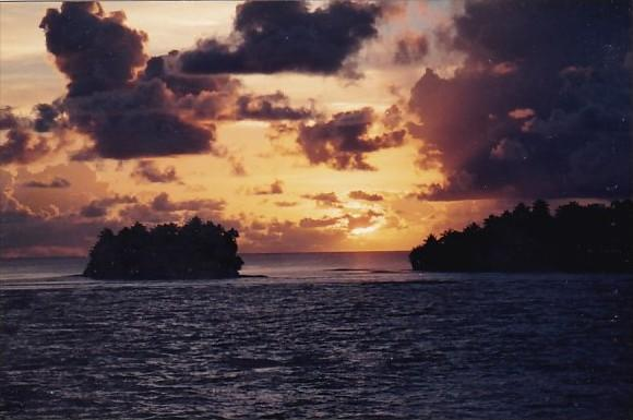 Micronesia Phonpei Sunset Scene