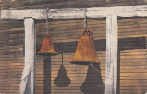 San Diego CA - old rusty bells at RAMONA'S MARRIAGE PLACE 1900s