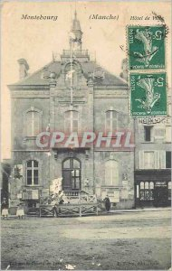 Postcard Old Montebourg (Manche) City Hotel