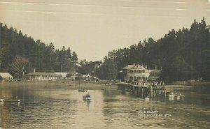 New Zealand Kawau Island Auckland real photo postcard pier 1919