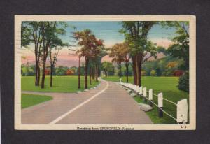 VT Greetings From Springfield VERMONT Linen Postcard PC Carte Postale