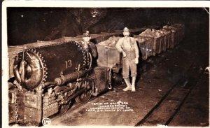 Mining Gold ore train in Lead S.D. RPPC