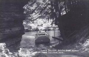 Wisconsin Dells Lake Delton Amphibian Lines Real Photo RPPC