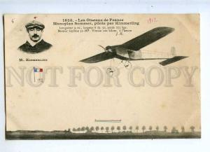 205418 FRANCE AVIATION Sommer airplane pilot KIMMERLING