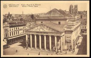 belgium, BRUSSELS BRUXELLES, Money's Theatre Opera (1920s)