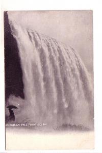 B&W American Falls from Below, Niagara Falls, New York,