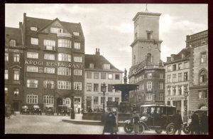 dc1730 - DENMARK Copenhagen 1920s Town Square Stores. Real Photo Postcard
