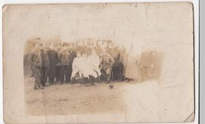 WW1; Army Group Photo, Mixed Units Rather Over Exposed RP PPC, Unused