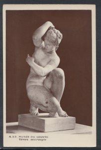 France Postcard - Musee Du Louvre - Statue - Venus Accroupie   T9692