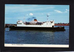PEI MVS Confederation Ferry Boat Cape Tormentine NB Port Borden Carte Postale