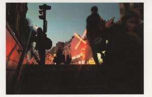 Moulin Rouge Night Illuminations Place Blanche Award Postcard