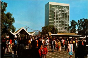Hong Kong City Hall and Statue Square Postcard used 1970s