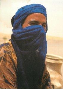 Maroc targui man ethnic postcard