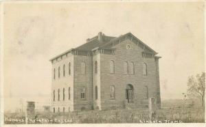 Christian College Lincoln Kansas 1908 RPPC Photo Postcard Moore Nutter 5676
