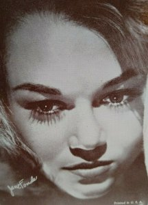 Jane Fonda Sexy Close Up Postcard Unused Vintage American Actress NOS Unused
