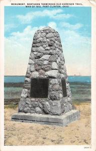 D4/ Port Clinton Ohio c1910 Lake Erie Harrison Trail Monument War of 1812
