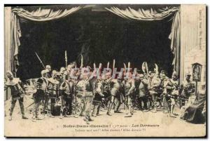 Old Postcard Notre Dame Guesclin first part Sleepers Army