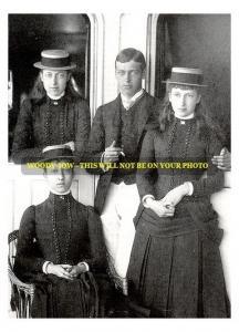 mm478 - Future George V , Princesses Louise Victoria & Maud - photo 6x4