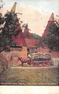 Rochester Burham Rural Scene Hop-Picking Oast House & Hops Drying 1906