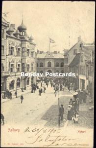 denmark, AALBORG ÅLBORG, Nytorv (1903) Stamps