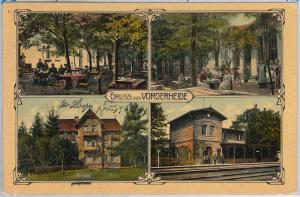 POLAND -  Vintage Postcard archiwalne pocztówki - Raszówka - Vorderheide 1909