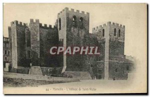 Old Postcard Marseille The Abbey of St. Victor