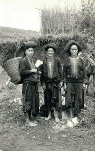 Laos Meos Real Photo Village People Indochine RPPC 03.82
