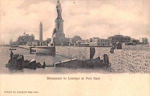 Monument to Lesseps Port Said Egypt, Egypte, Africa Unused