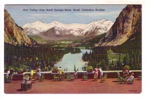 Bow Valley from Banff Springs Hotel, Canadian Rockies, Alberta, The Coast,