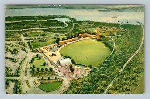 Jamestown Park VA- Virginia, Aerial View, Painting of the Park, Chrome Postcard