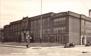 B21/ Coleraine Minnesota Mn Real Photo RPPC Postcard c30s Greenway High School