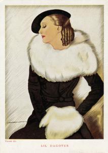 NANNI ; Art Deco Female Portrait , Lil Dagover , 1910-30s