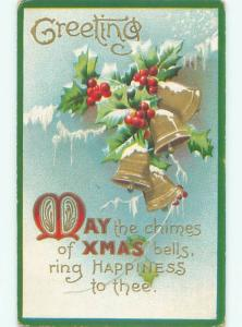 Divided-Back CHRISTMAS SCENE Great Postcard W9755