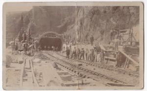 Social History; Unlocated Labourers On Railway Tunnel Construction RP PPC