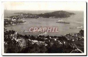 Old Postcard Villefranche Sur Mer L & # 39escadre in Villefranche bay and Cap...