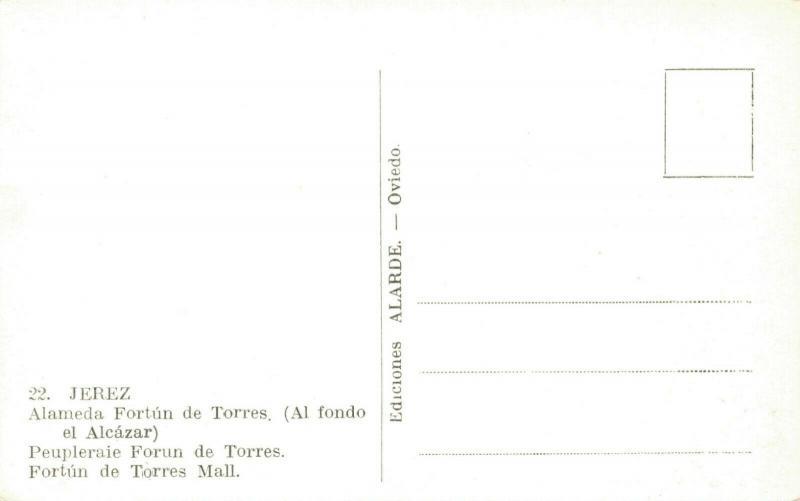Spain Jerez Alameda Fortun de Torres 01.69