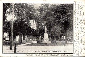 New Jersey Perth Amboy City Hall Park 1905