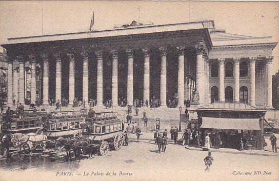 PARIS, France, 1900-1910´s; Le Palais De La Bourse