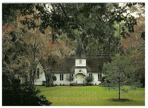 Episcopal Christ Church St Simons Island Georgia Postcard