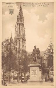 Belgium Anvers Place verte Statue ce P. P. Rubens 02.16