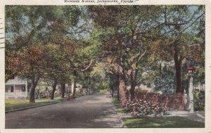 JACKSONVILLE, Florida, PU-1928; Riverside Avenue