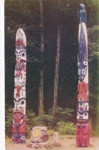 Alaska Sitka National Monument Totem Poles