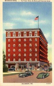 Maryland Salisbury The Wicomico Hotel Curteich