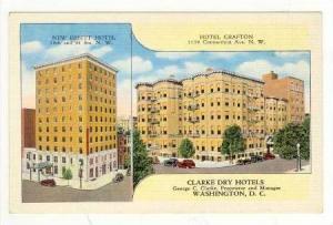2Views, Clarke Dry Hotels, New Ebbitt Hotel & Hotel Grafton, Washington, D.C....