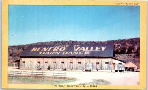 1950s Kentucky Postcard Home of RENFRO VALLEY BARN DANCE Dexter Press Unused