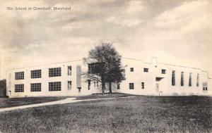 Greenbelt Maryland School Street View Antique Postcard K98511