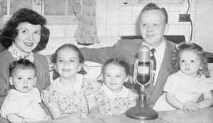 Chicago IL~Cliff Johnson~Family~Broadcast Meats Sponsor~WBBM Reality Radio~1940s
